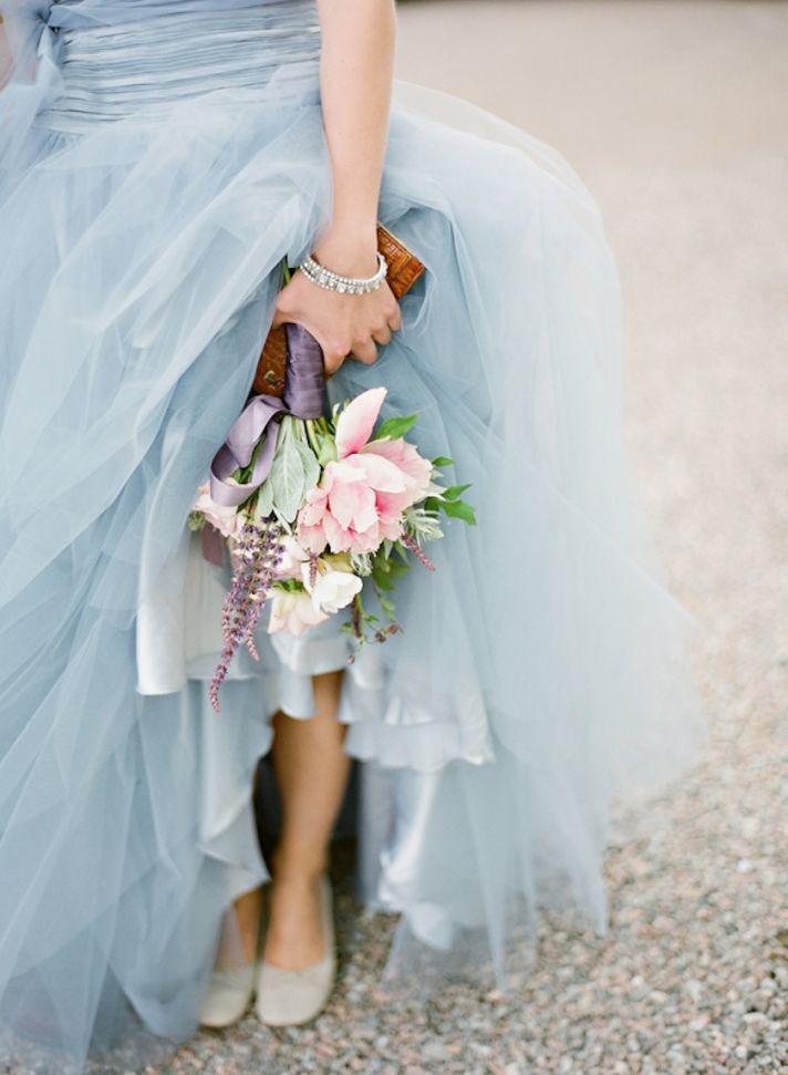 Vintage pale blue bridesmaid dresses