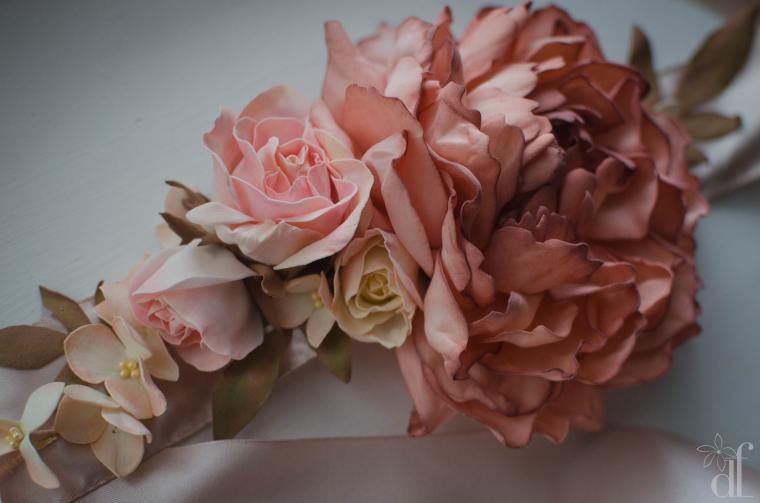 мастер-класс по цветам, пион, гортензия мк, анемон, роза