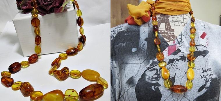 аукцион на украшения, янтарное украшение, янтарные бусы