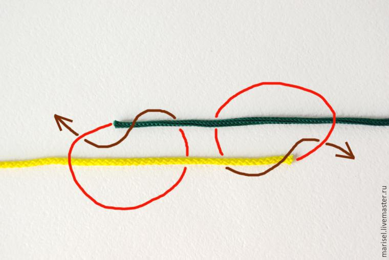Как завязать шнур браслета