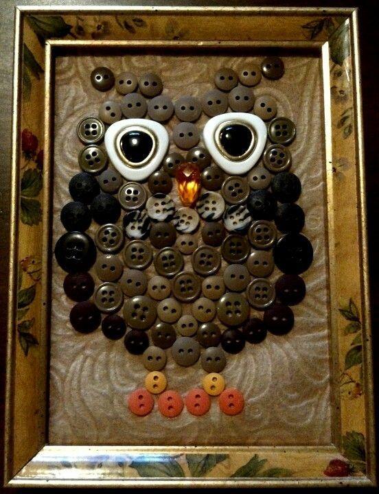 DIY - Button Owl