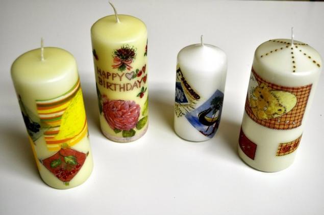 основы декупажа, подарок ручной работы, основы декора, мастер-класс, уроки декупажа, творческая студия, декупаж на свече