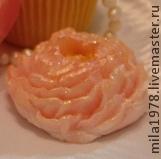 конфетка, ручная работа, розовый, мыло цветок