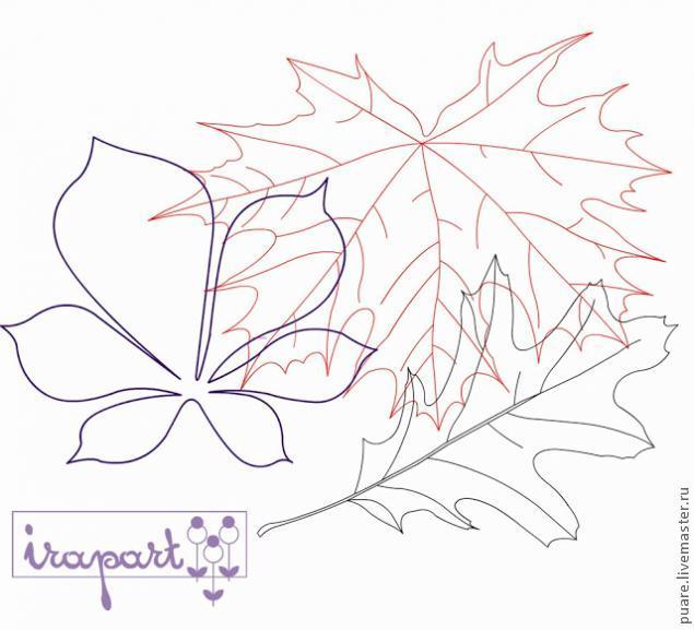 Как сделать кленовый лист из картона с палочкой