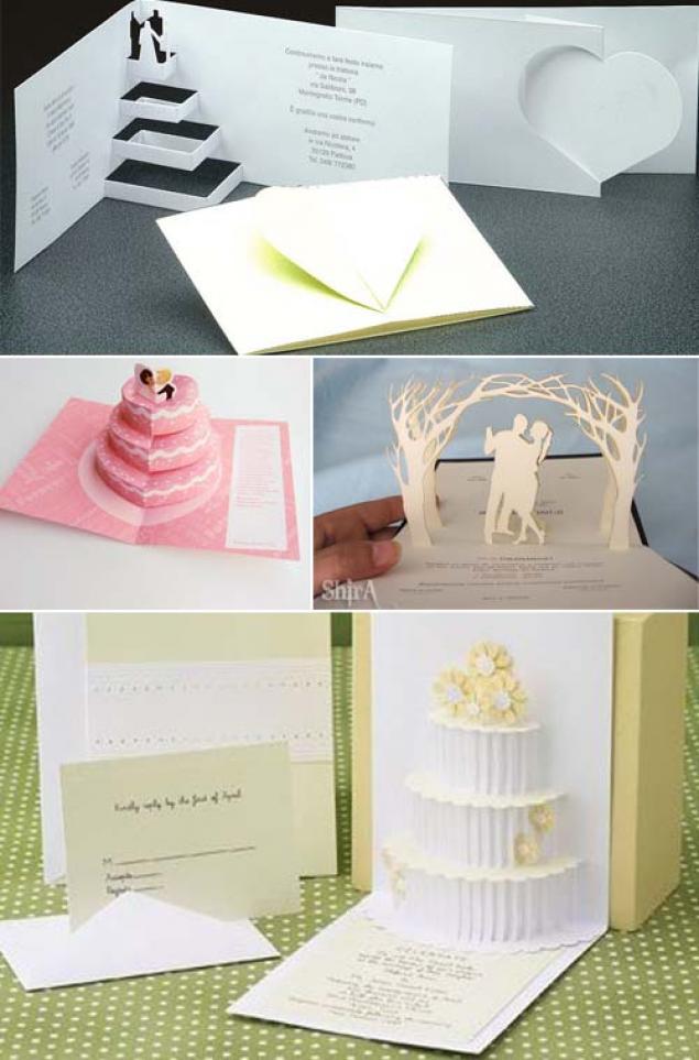 Объемные открытки свадьбу своими руками