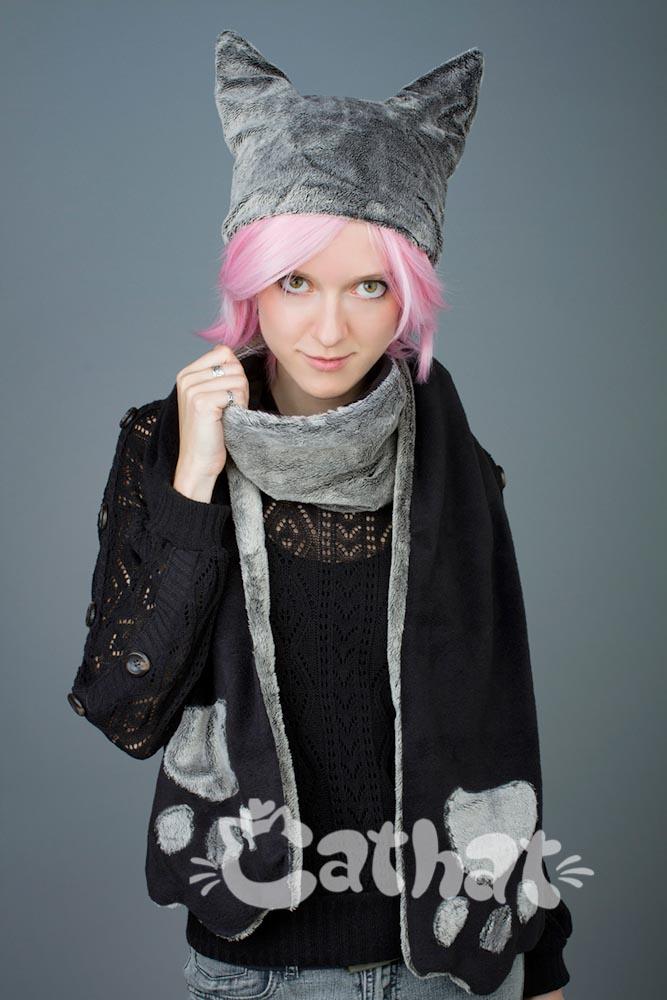 шарф с лапами