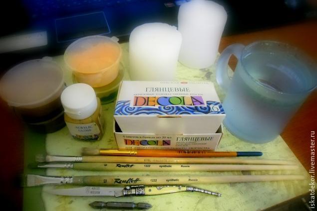 мастер-класс по свечам