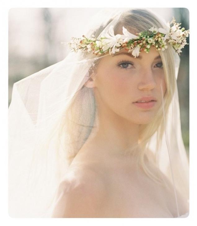 цветы, свадебный венок