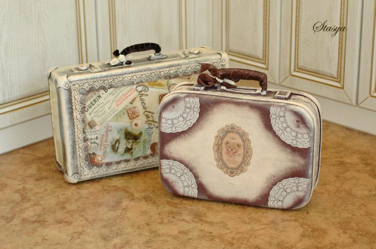 Декор чемодан своими руками 448