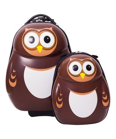 Love this Pipi the Owl Trolley Case  Backpack Luggage Set on #zulily! #zulilyfinds