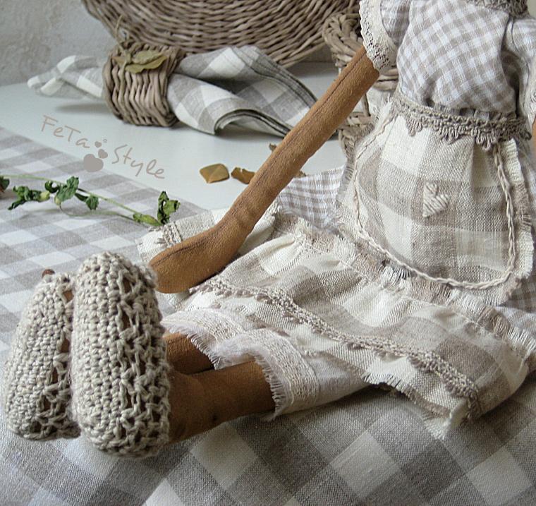 кухня в стиле прованс, текстильная кукла