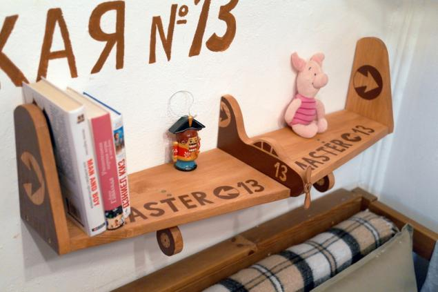 Мастер-класс по книжным полочкам-самолётам от Мастерской №13, фото № 2