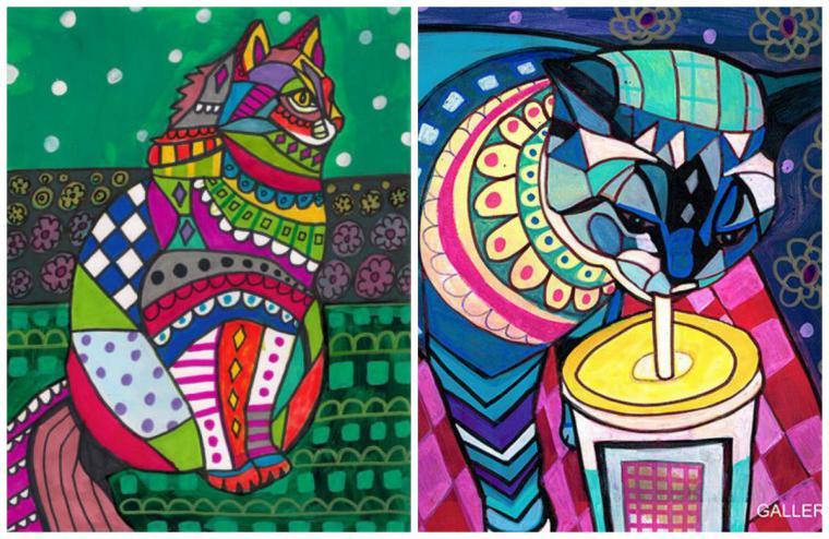 Психоделические собаки Heather Galler: невероятно яркие картины американской художницы, фото № 14