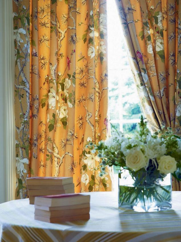 английский стиль, ткани для штор