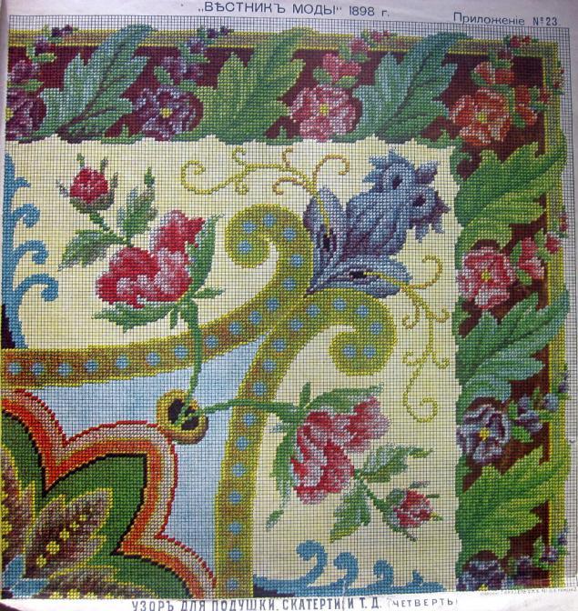 старинные схемы вышивки