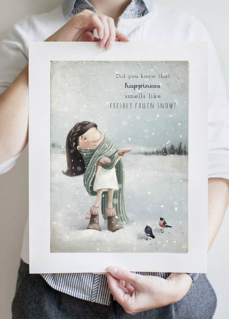 First Snow Fairy A3 Print