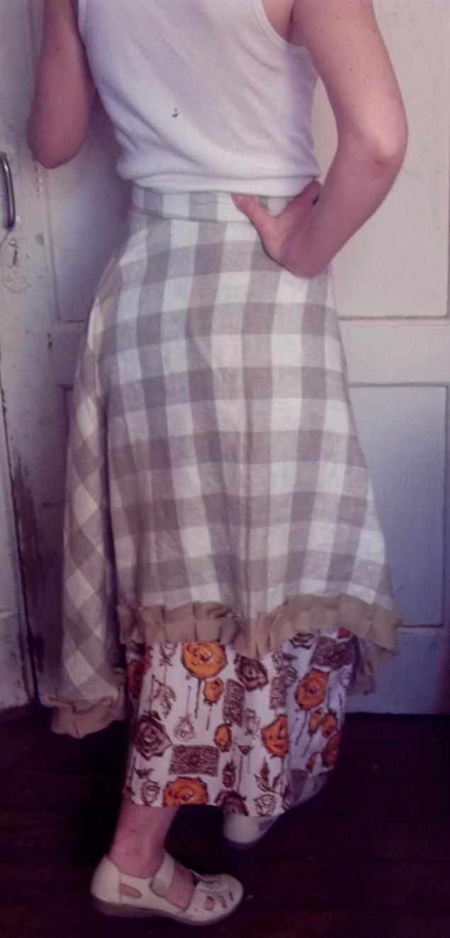 юбка для девочки, льняной фартук, подарок на 8 марта