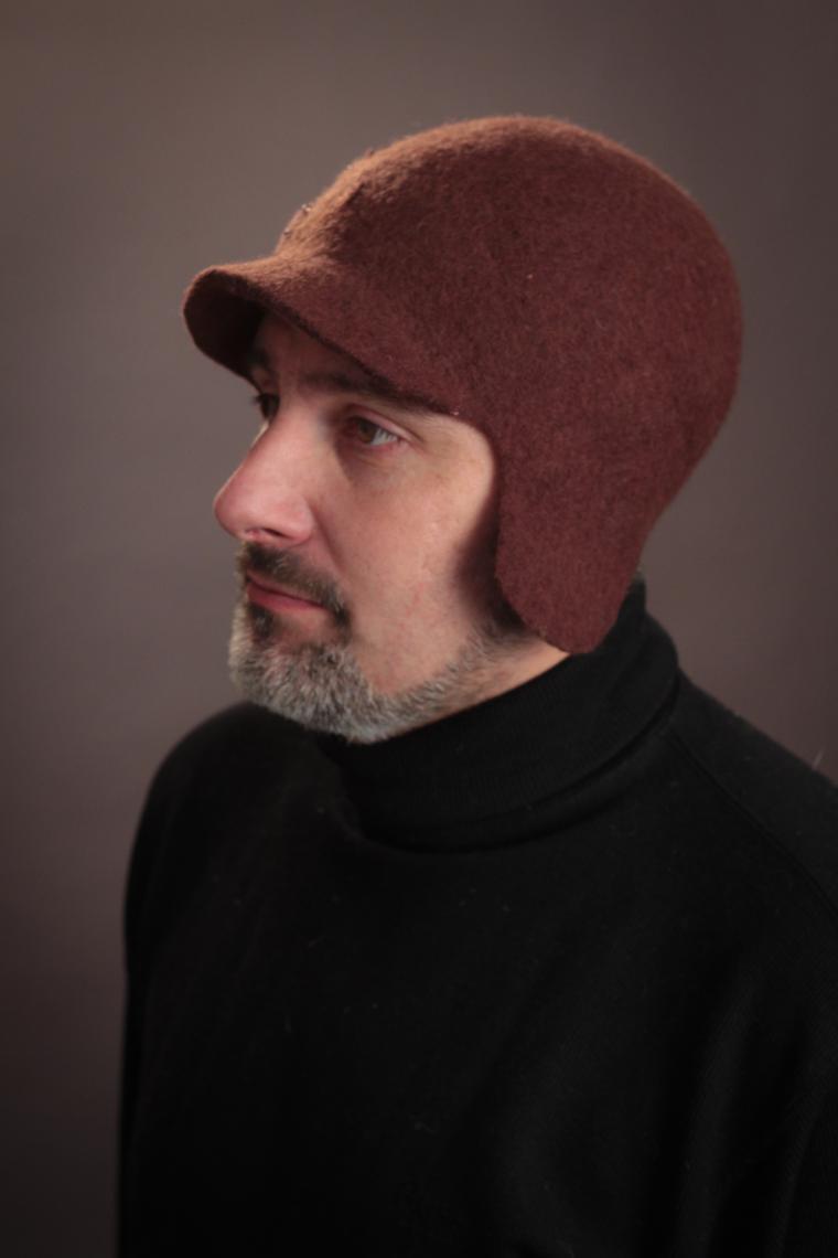 Головные уборы из шерсти: шапочки, шляпки, кепки, береты, фото № 24