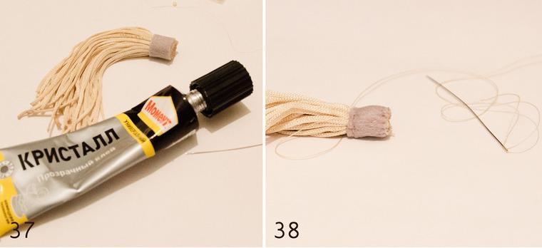 Вышитая брошка с пасхальным зайкой и веточкой вербы, фото № 19