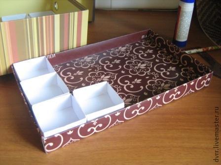 Сделать коробочку из картона для мелочей своими руками