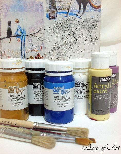 Декупаж и работа с красками