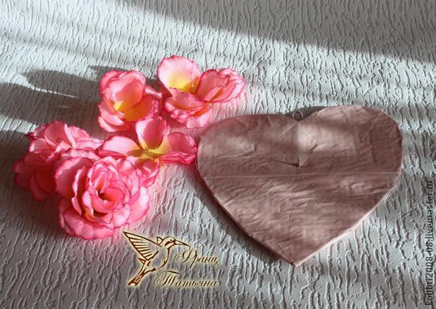 мк - валентинка, цветочная композиция, сердце из цветов