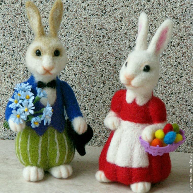 друзья валяние игрушки пасхальный кролик фото полосы