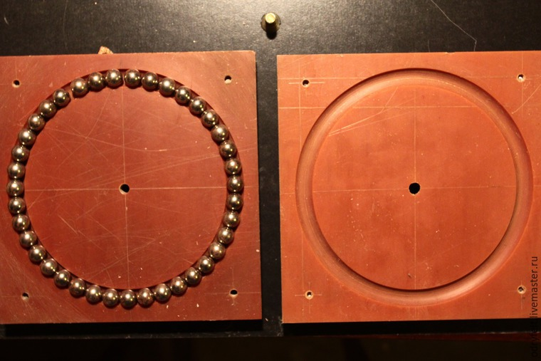Мастерим поворотный стол для раскладки шерсти на шаблоне, фото № 5