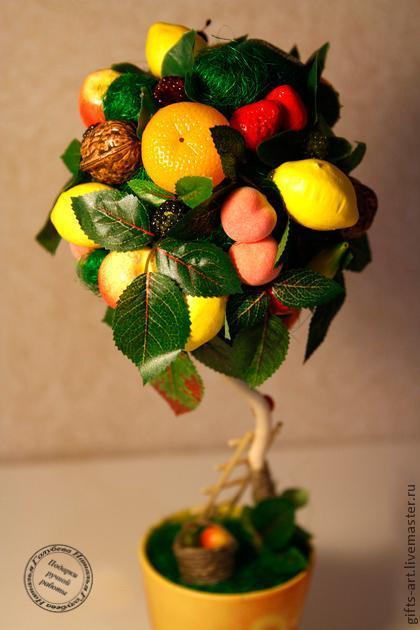Как сделать топиарий фруктовое дерево видео