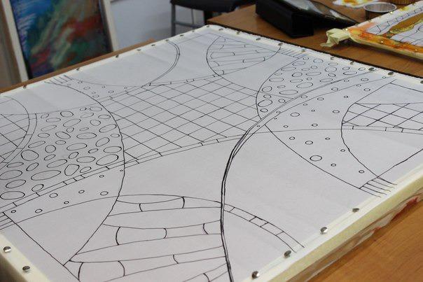 Технология создания платка в технике холодного батика. Совсем скоро 2-х дневный курс!!, фото № 4