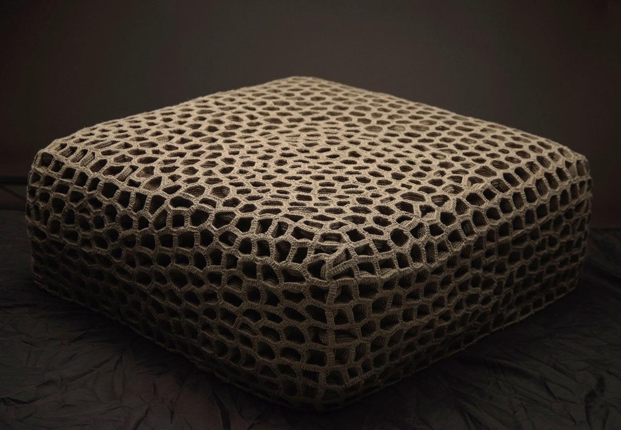 Необычные вязаные диваны, фото № 6