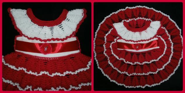 платье для девочки, вязаное детское платье, для девочки