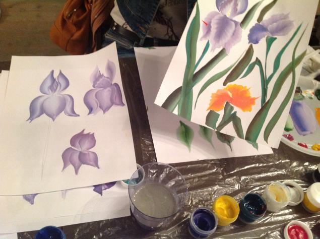 цветочная композиция, обучение росписи