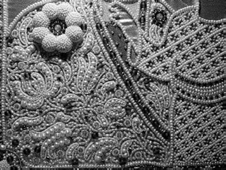 Английская вышивка бисером