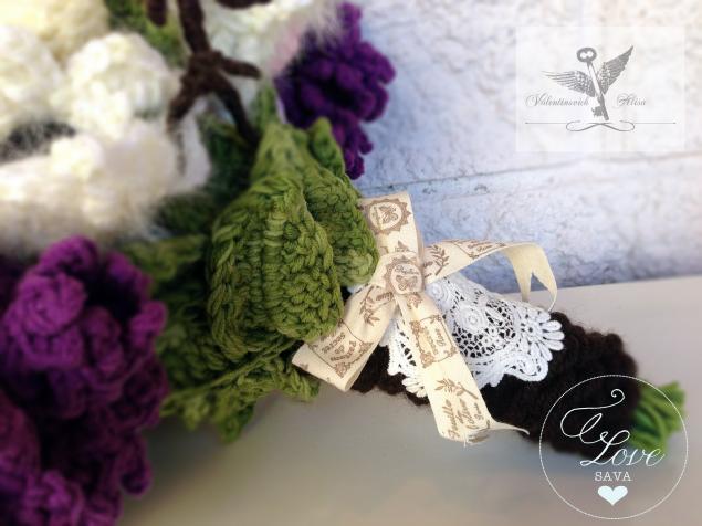букет невесты, сиреневый, sava