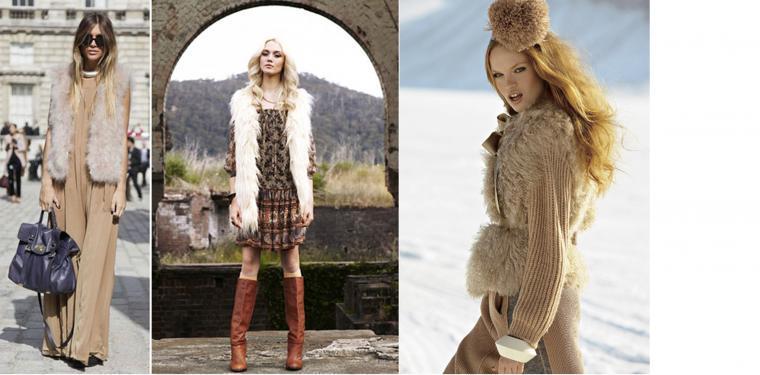 С чем носить меховой жилет: фотопособие, фото № 7