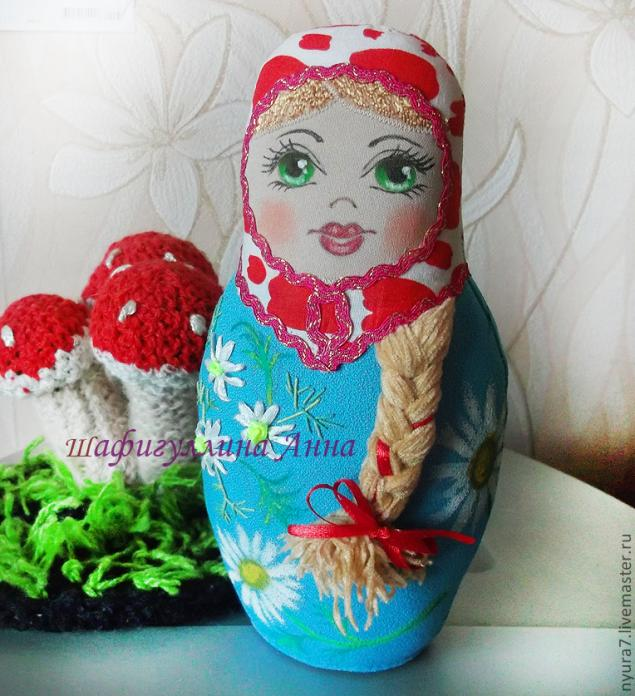 Изготовление текстильной куклы. Текстильная матрешка