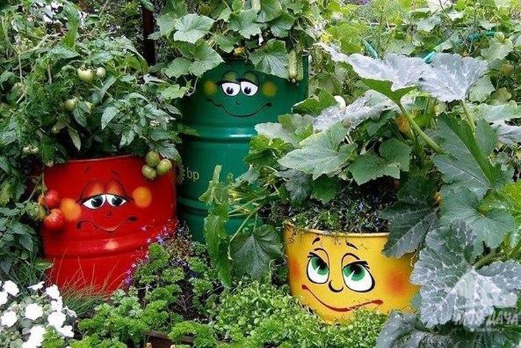 Декоры своими руками для огорода