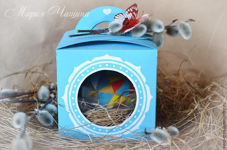 Мастер-класс: пасхальное яйцо в гнезде и подарочной коробочке, фото № 1