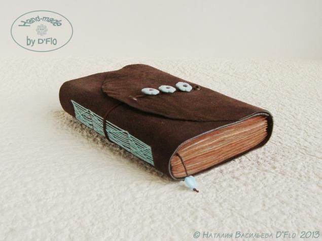 блокнот авторский, бирюза и шоколад, единственный экземпляр