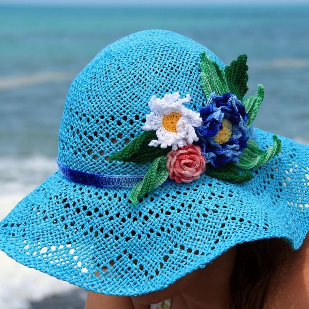 Пляжная шляпка крючком