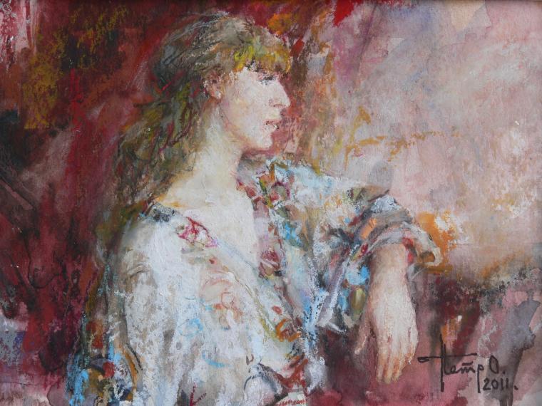 картина девушка