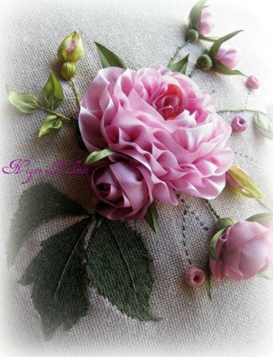 Потрясающая вышивка и цветы из ткани турецкой рукодельницы Нигяр Хикмет - prelenka