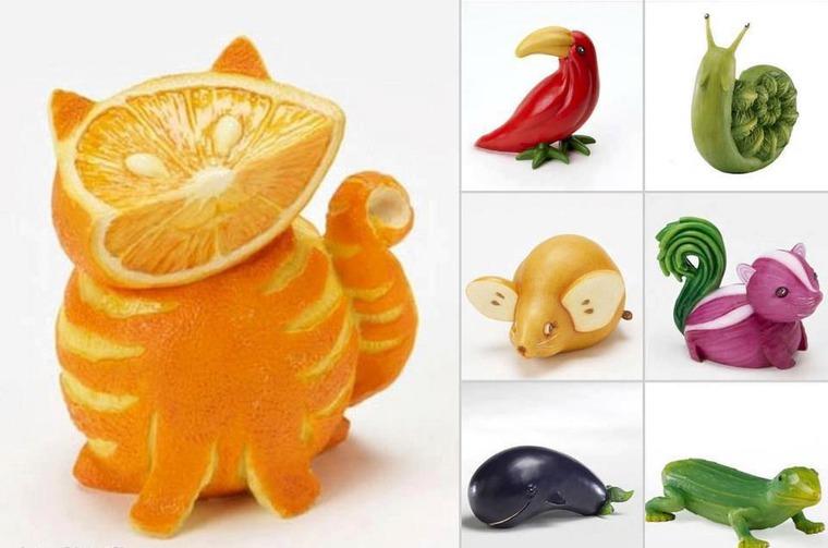 Как сделать поделку с овоща или фрукта