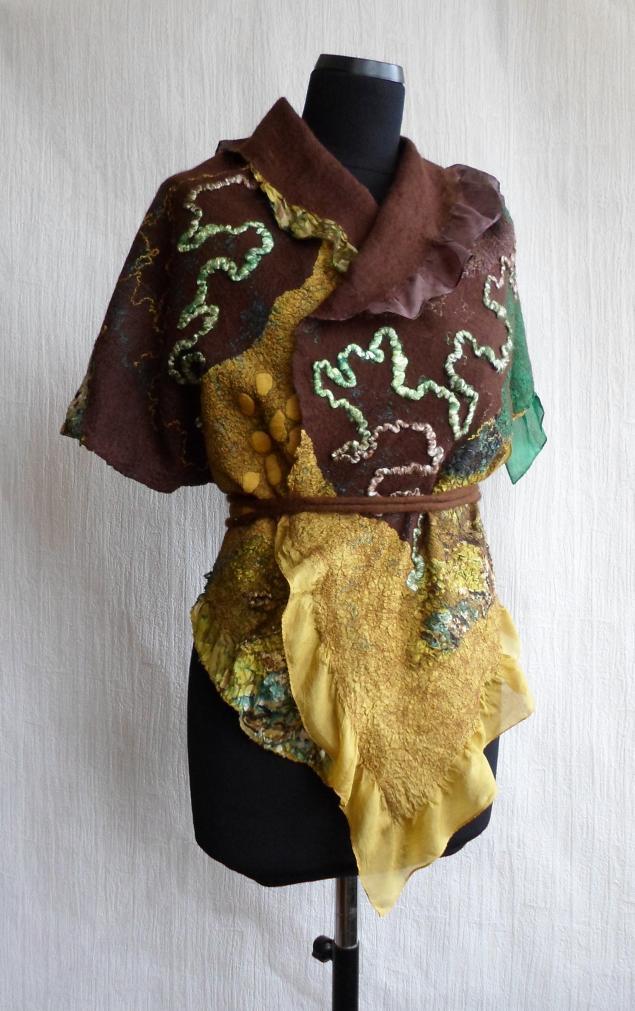 мокрое валяние, нуно-войлок, шарфы на шелке