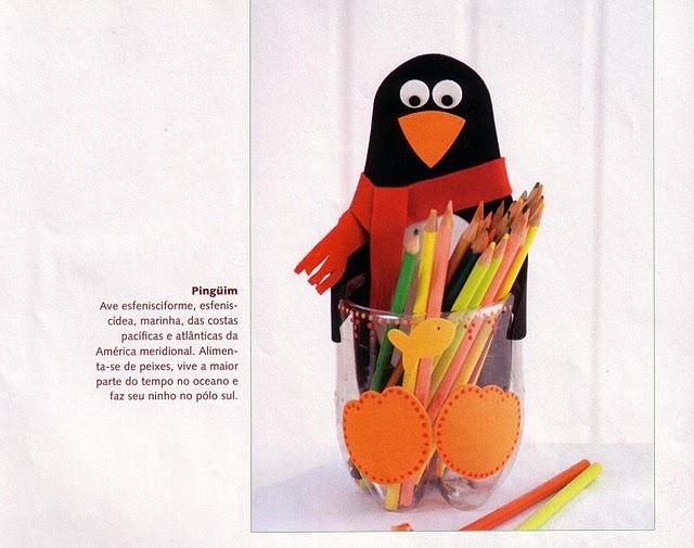 Органайзер для карандашей из пластиковых бутылок