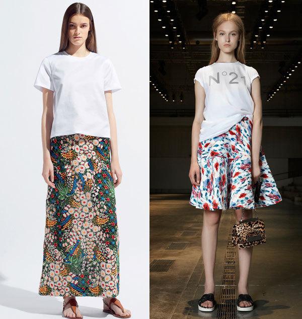 Модные принты юбок венса-лето 2014