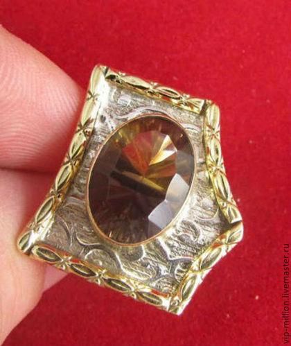 серебро 925 пробы, зеленый аметист, кольцо с сапфирами