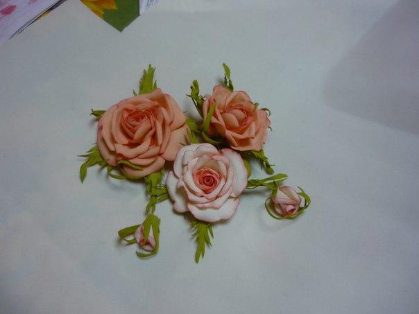 флористика из фом, цветы своими руками, научиться делать цветы, цветы из фом, курс цветы из фом, обучение цветы