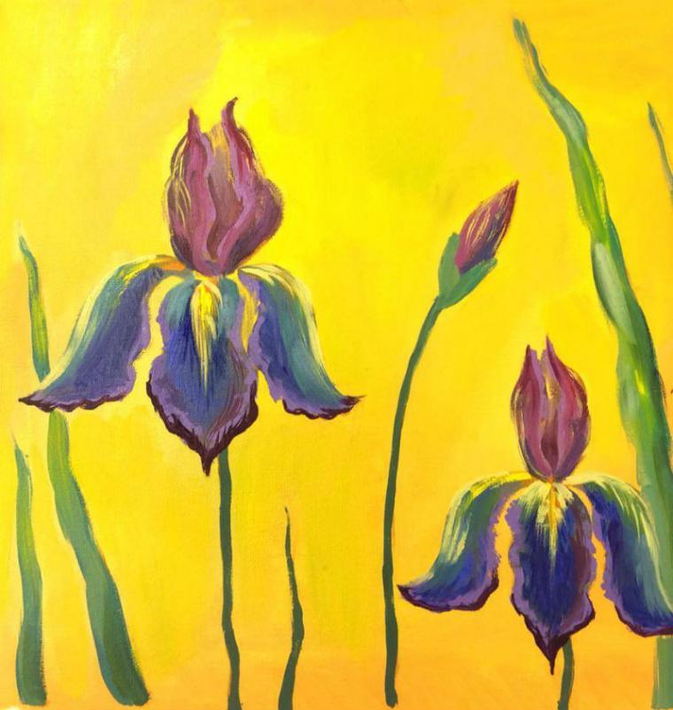 мастер-класс, масло, масляная живопись, цветы